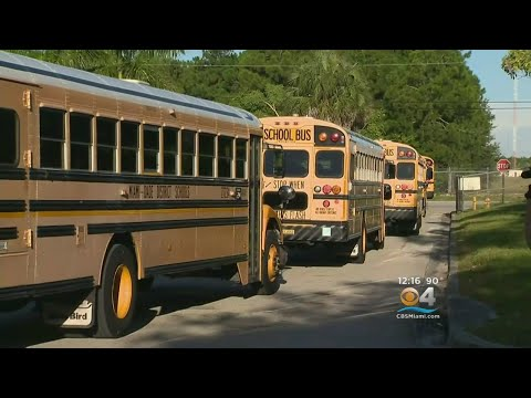Miami-Dade School Buses Hit The Road For Practice Run