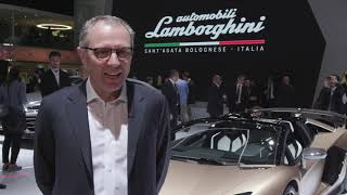 Lamborghini at Geneva Motor Show 2019 - Interview with Stefano Domenicali, CEO of Lamborghini
