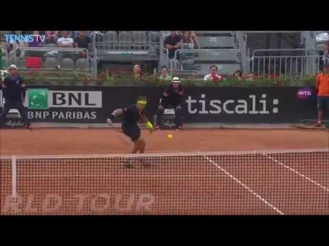 David Ferrer Hot Shot Rome 2015 vs. David Goffin
