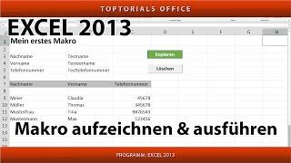 Makro erstellen und ausführen ganz einfach (Excel)