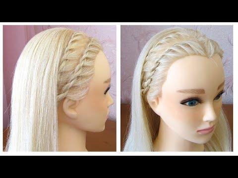 Tuto coiffure pour tous les jours (pour l'école/travail) ✨ Tresse serre-tête ✨ facile à faire