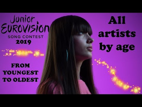 Junior Eurovision Song Contest 2019 | All artists by age | #JESC_2019