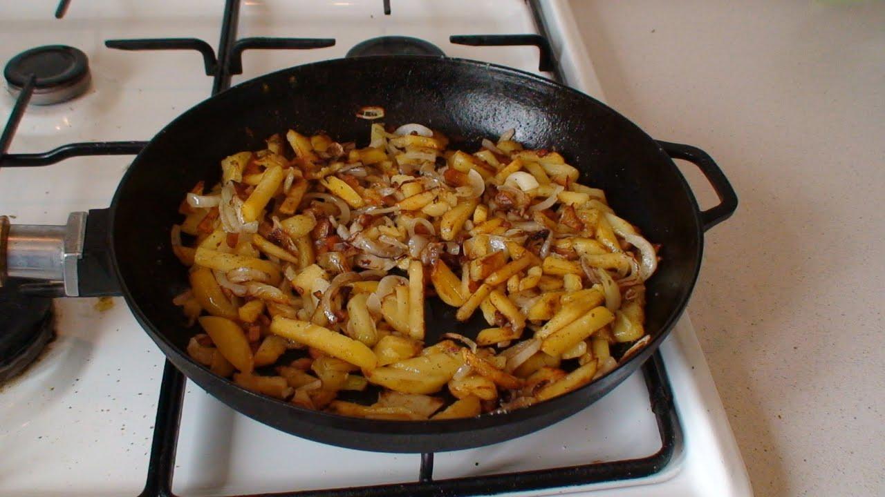Жареное сало с луком рецепт пошагово в