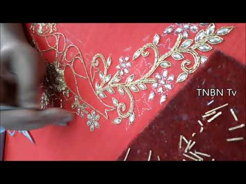 blouse neck designs | simple maggam work blouse designs | designer blouse designs, basic embroidery