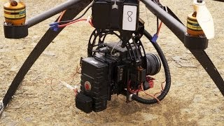 Drone Octocopter with Red Epic 100fps