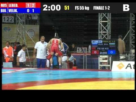 Лебедев Великов ЧМ 2011 Турция Стамбул финал 55 кг