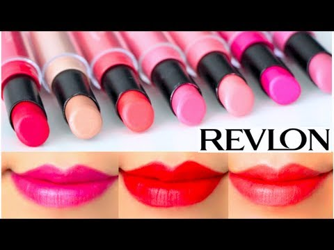 revlon colorstay ultimate suede lipstick swatches on lips