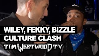 Wiley, Fekky, Lethal Bizzle backstage Culture Clash - Westwood
