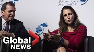 LIVE: Chrystia Freeland talks global trade with New York Times