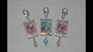 DIY~Sweet Vintage Bluebird Purse Charms! Made With Popsicle Sticks!
