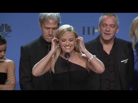 Nicole Kidman, Reese Witherspoon - Big Little Lies - 2018 Golden Globes- Backstage Speech
