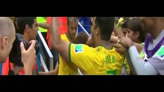 david luiz breathtaking freekick vs colombia