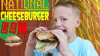 CHEESEBURGERS!!  It's National Cheeseburger Day!!