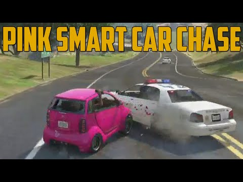 PINK SMART CAR CHASE (Grand Theft Auto V)