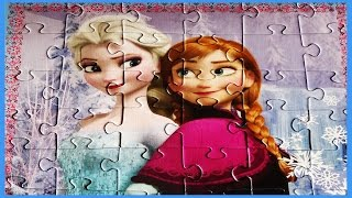 FROZEN Puzzle Games Disney Jigsaw Puzzles Elsa Princess Anna Toys 54 Puzzle pieces Frozen Video