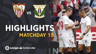 Highlights Sevilla FC vs CD Leganes (1-0)