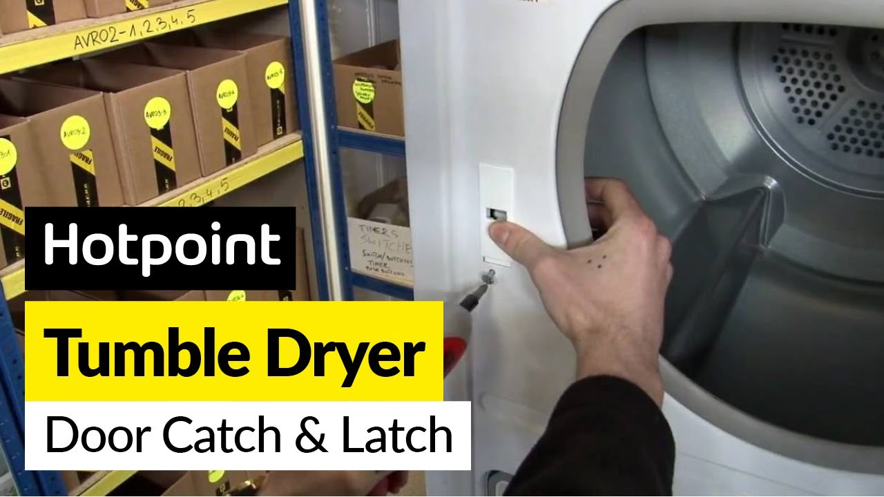 How To Replace The Tumble Dryer Door Catch And Latch On A