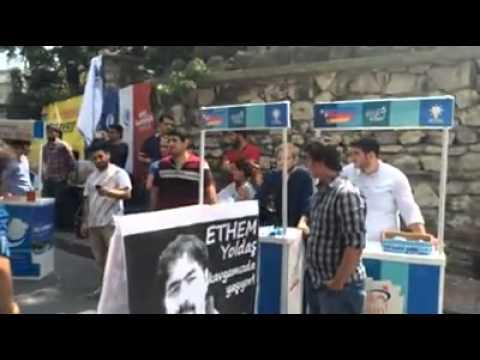 İstanbul Üniversitesi'nde stant açan AKPliler işte böyle kovuldu!