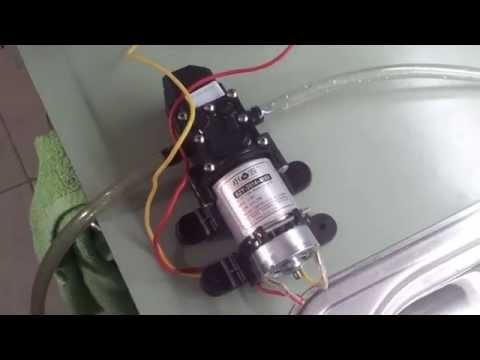 Quick review: $24 ebay water pump. 100 PSI 12V for caravans etc
