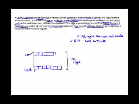 how to solve ratio word problems