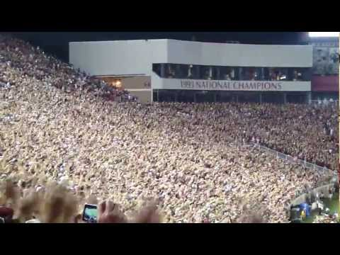 FSU Seminoles Tomahawk Chop Entering DOAK Oklahoma Sooners