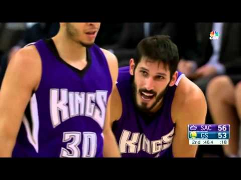 Curry and Casspi 3 points showdown!!!