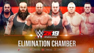 WWE 2K19 Elimination Chamber Match feat. ELIMINATION CHAMBER POD SPEAR & More | WWE 2K19
