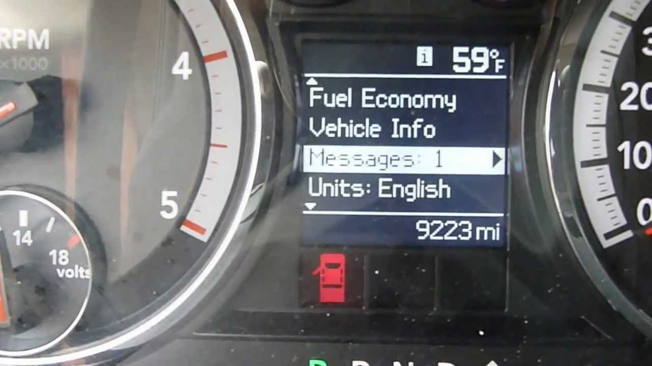 2012 Ram 3500 Diesel 4x4 Oil Message Indicator   How To