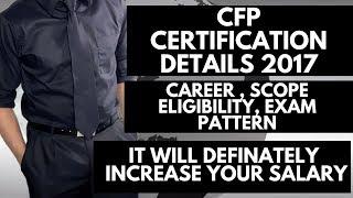 CFP CERTIFICATION   CFP CERTIFICATION COMPLETE DETAIL   CFP FEE   CFP Course Detail
