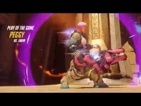 Zarya getting Aggressive four kill Play of the Game