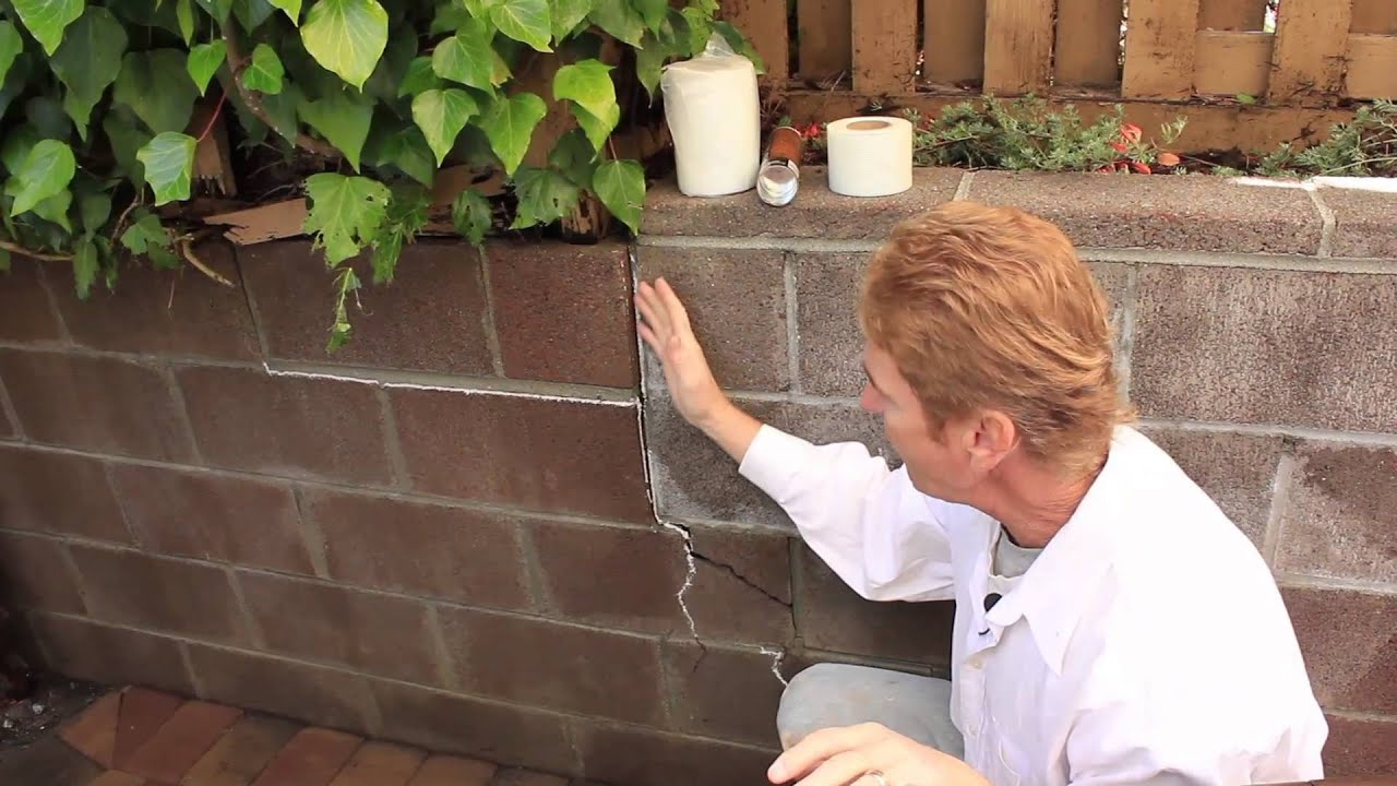Repair A Structural Crack In Cinder Block Wall Just An Explanation Youtube