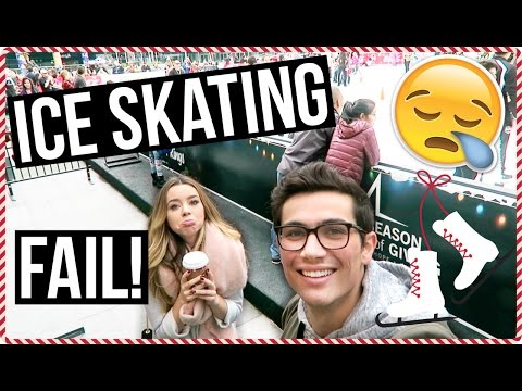 Ice Skating Fail! VLOGMAS Day 11!