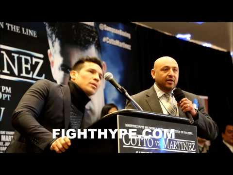 SERGIO MARTINEZ ON MIGUEL COTTO ON JUNE 7TH HES GOING TO ASK FOR ROSE PETALSIM GOING TO WIN