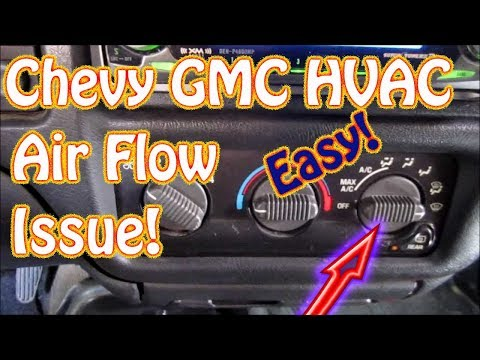 GMC Jimmy. S10. Blazer DIY How to Diagnose HVAC Mode Control - Vent - Defrost - Floor Selector