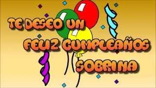 Tarjeta Virtual Animada De Feliz Cumpleaños Sobrina