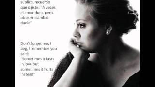 Adele - Someone like you (letra y traducción).wmv