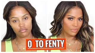 FULL FACE OF FENTY BEAUTY TRANSFORMATION | MAKEUPSHAYLA