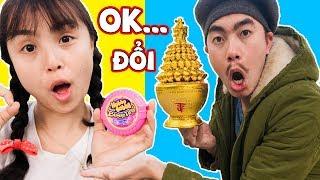 Đổi Vàng Lấy Hubba Bubba - Bác Dân Tộc Ăn  kẹo HUBBA ❤ Chị Hằng & Thái Chuối