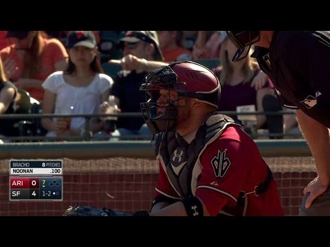 ARI@SF: Castillo snares foul off netting behind home