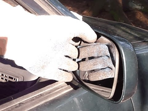 How to change side mirror glass Toyota Corolla.Years 2000 to 2008