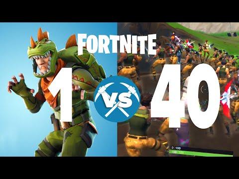 1 Player Vs. 40 Players Fortnite Custom Match