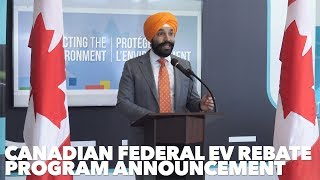 Canadian Federal EV Rebate program announcement