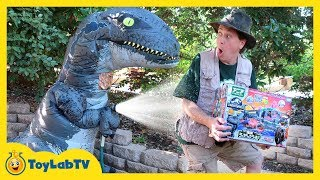 Giant Life Size Raptor Blue Dinosaur from Jurassic World Fallen Kingdom & Tomy Dinosaurs Toy Playset