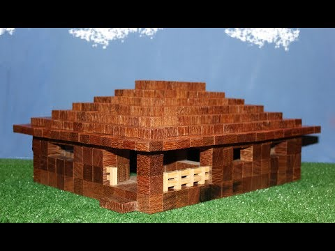 how to make a minecraft house in real toys youtube. Black Bedroom Furniture Sets. Home Design Ideas