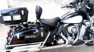 "Harley Police Escort Bike For Sale, Lights, Siren, 103"" motor all included"