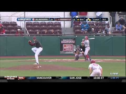 05/05/2013 Alabama vs Mississippi State Baseball Highlights