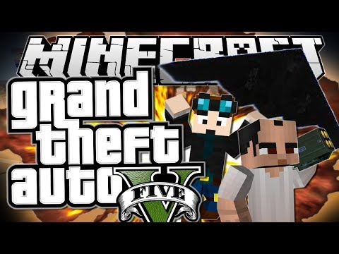 Minecraft   Grand Theft Auto (GTA)   STEALING A STEALTH BOMBER   Mods Showcase [Funny Moments]