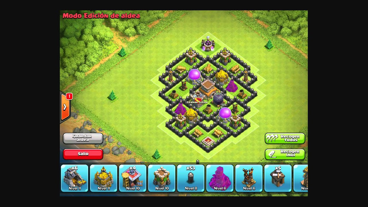 Clash of Clans Diseo de Aldea Hibrida Ayuntamiento 7 - YouTube