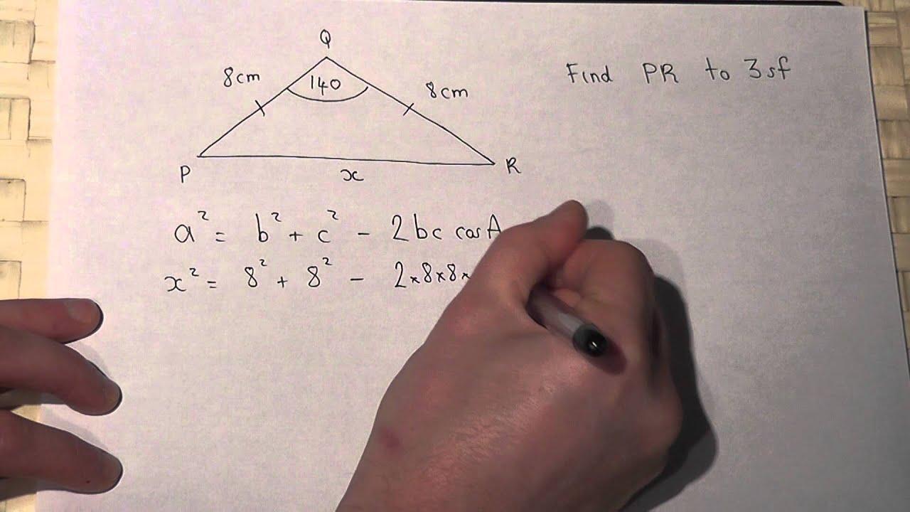 Trigonometry  The Cosine Rule And Isosceles Triangles