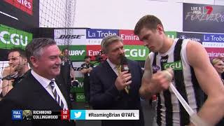 BT interviews Eddie McGuire and Mason Cox! #AFLTigersPies #RoamingBrian